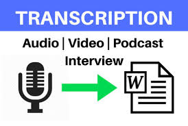 Audio Video transcription,  Data Entry