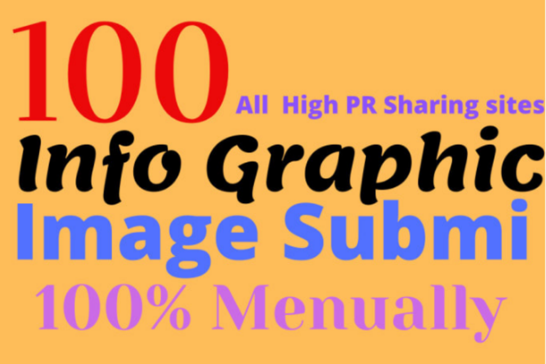 I will do 100 infographic image submission on DA PA 60+ high quality sites