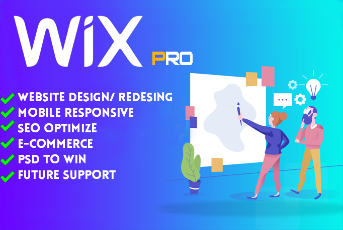 I will design wix website and redesign a business wix website