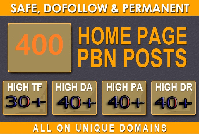 Get Extreme 400+PBN Backlink in your website hompage with HIGH DA/PA/TF/CF with unique website
