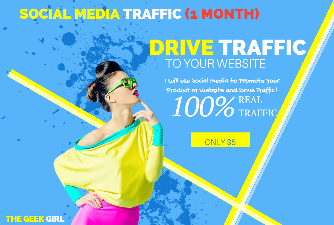 Organic 1 Month Traffic with up to 250 daily visits driven from Social Media and SEO Blog Posts