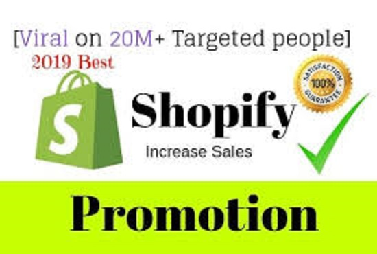 I will promote your shopify store to million USA audience to get traffic and boost sales
