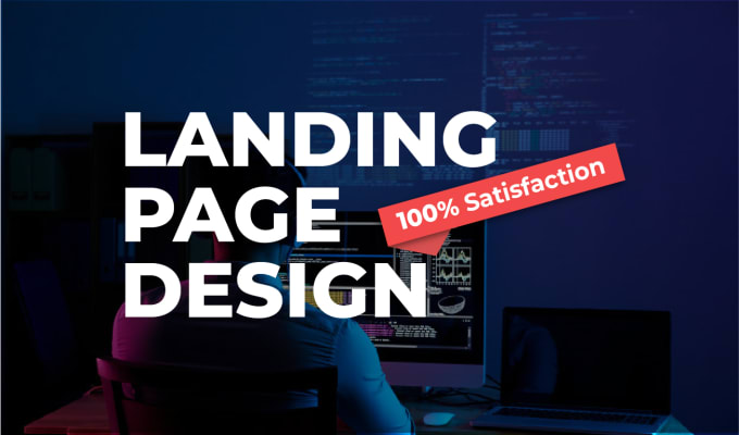I will create a responsive and eye catchy landing page for your website
