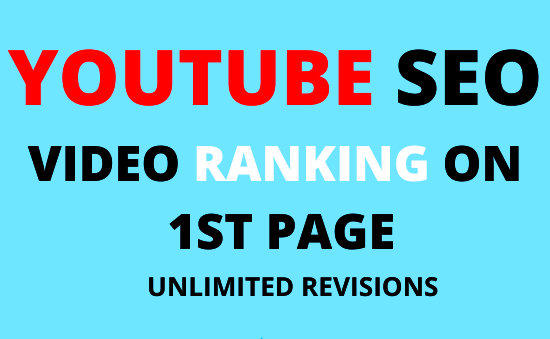 Youtube video SEO Ranking- RANK your video to Page 1 - Nobody rank better for 5