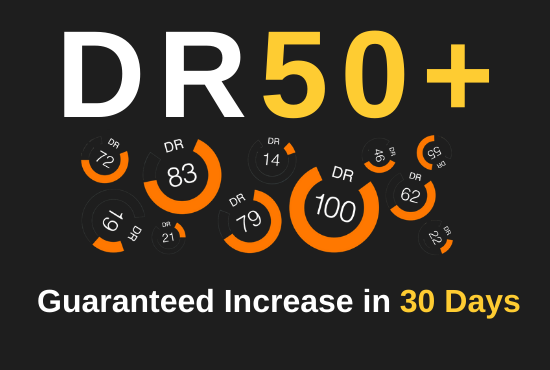 I will increase ahrefs domain rating 50+ increase ahrefs dr
