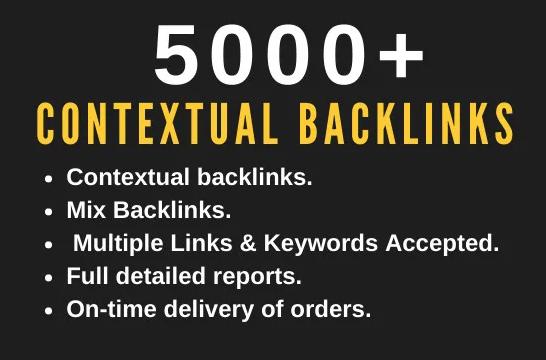 I will provide 1000 tier 2 seo contextual backlinks