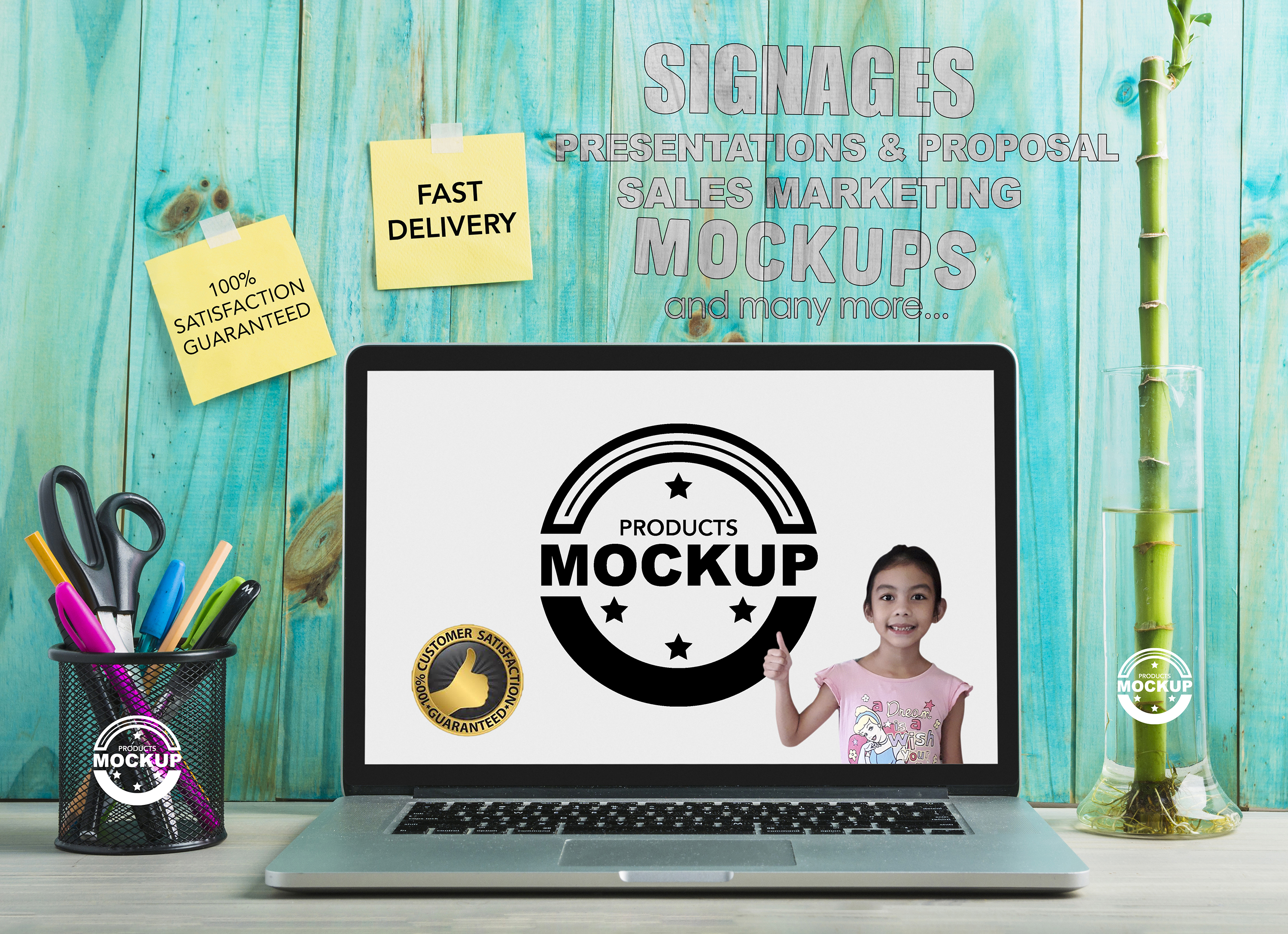 I will do MOCKUPs of your products and do marketing presentation