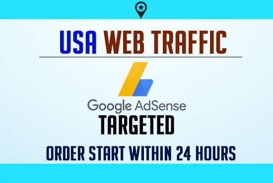 Google Adsense targeted organic USA web traffic