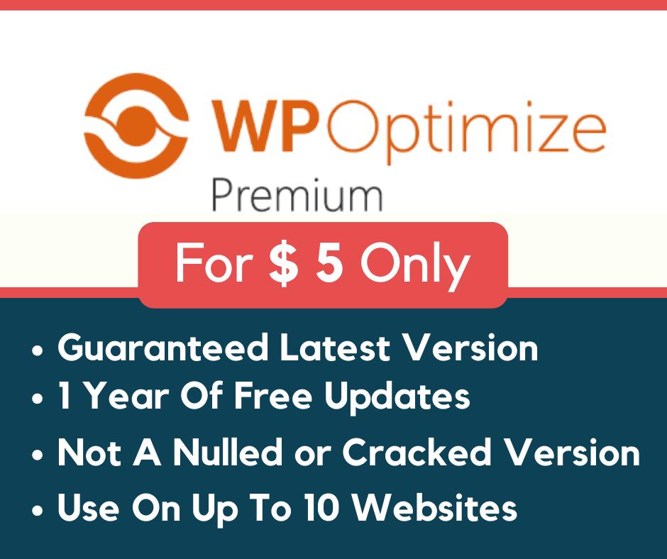 WP Optimize Premium Plugin For WordPress - Money Back Guarantee