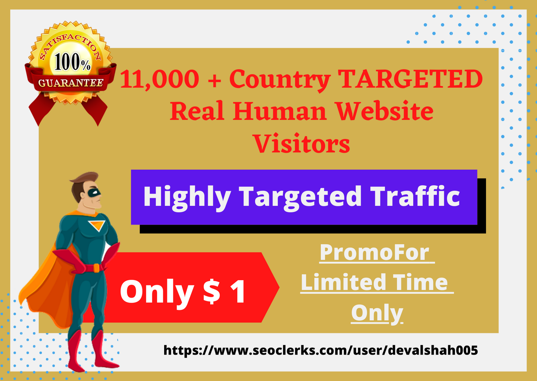Send Real TARGETED Human Visitors 11,000 weekly to your website