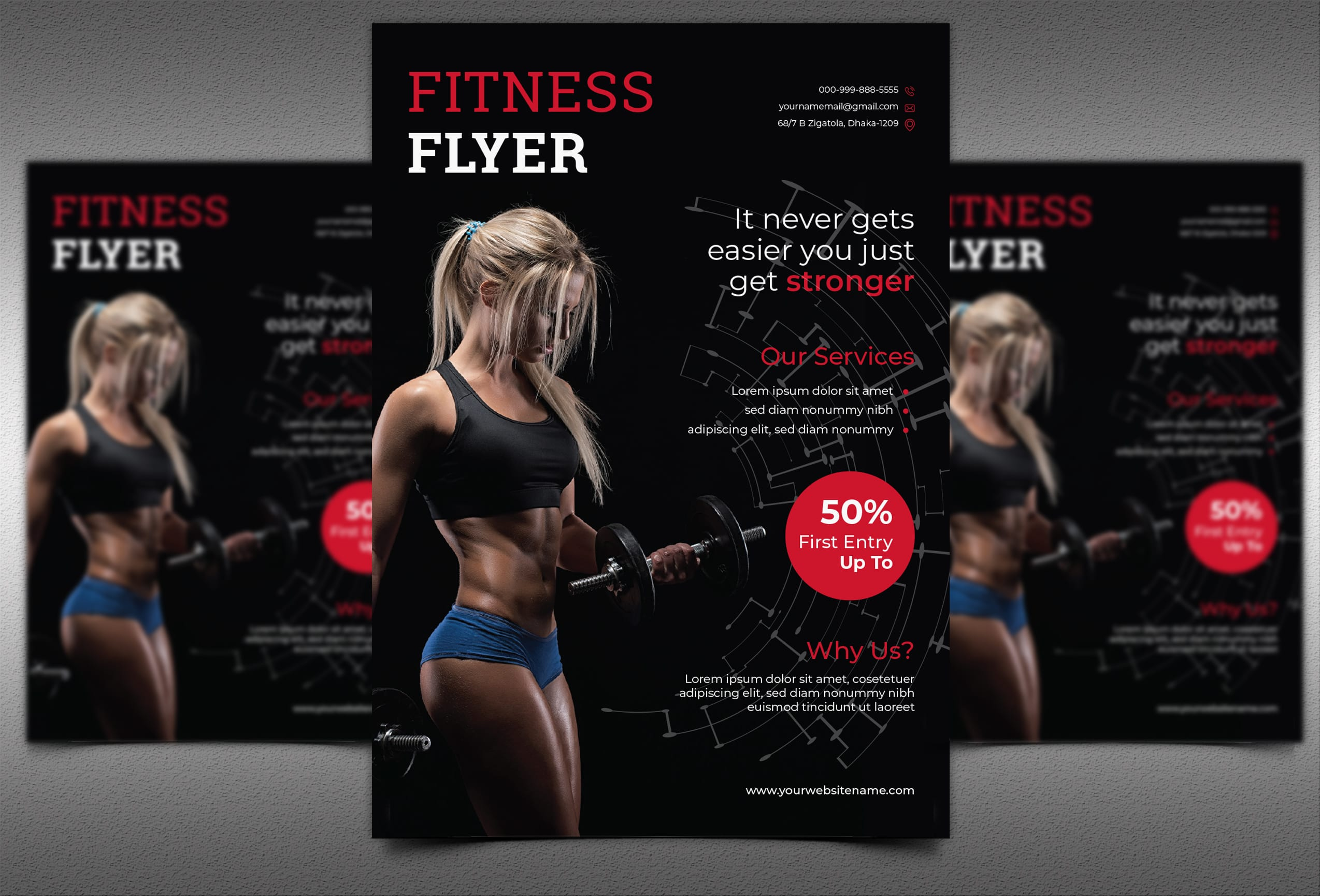 I will make perfect fitness,  gym,  workout,  sports flyer and poster
