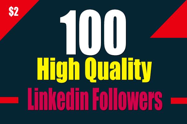 Real 100 High Quality Linkedin Company Page Followers