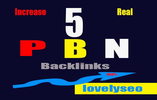 Create 5 Homepage PBN Backlinks