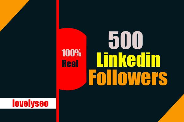 Real 500 High Quality Linkedin Company Page Followers