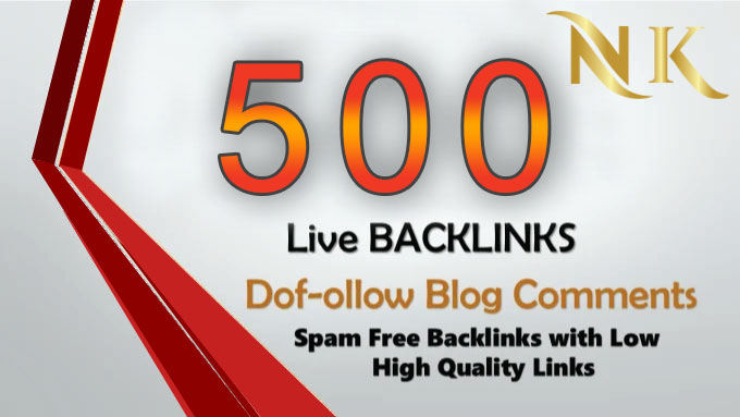 i will provide 500 dofollow blog comments backlink