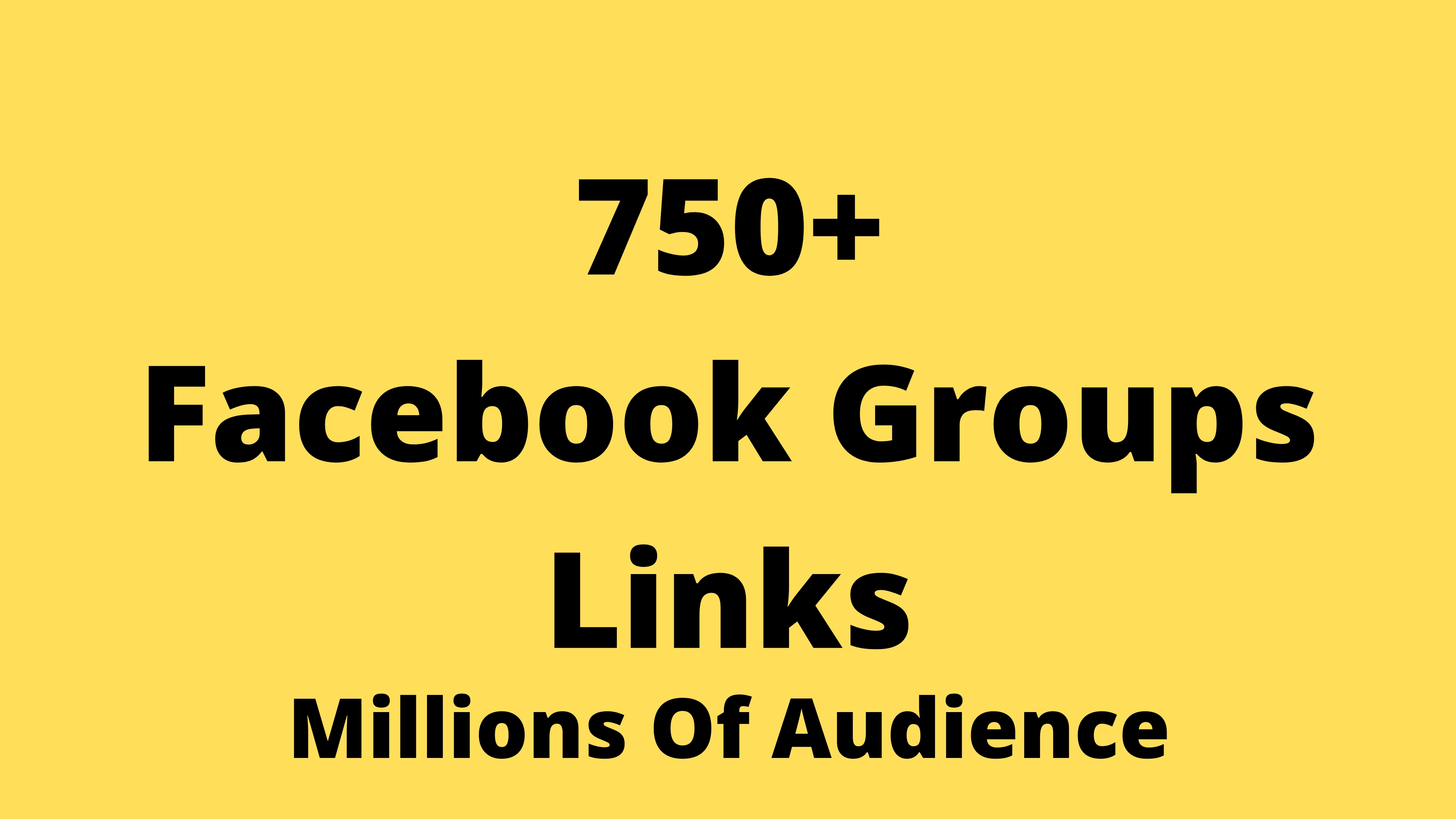 750+ Facebook Groups Links List To Join And Get Organic Traffic
