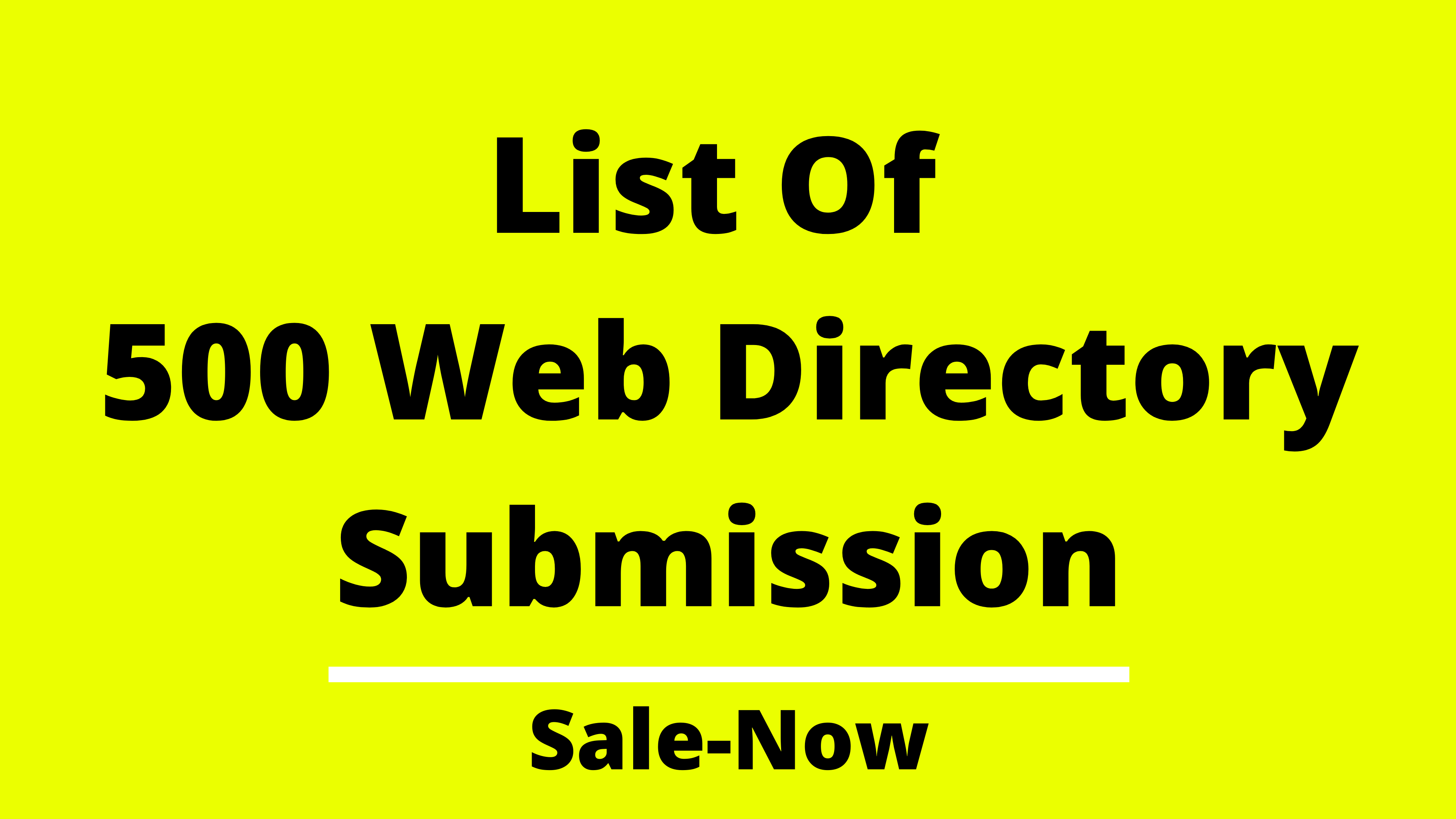 List Of 500+ Web Directory Submission To Rank On Google