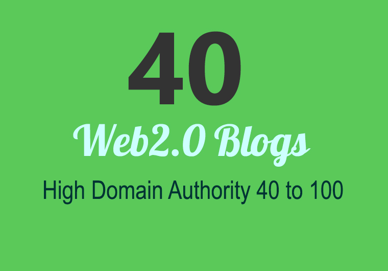 I Will build 40 super web 2 blog that fire SEO rankings