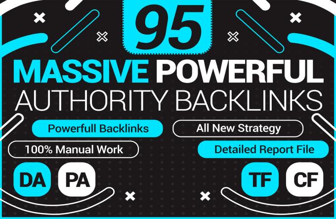 GET POWERFUL AUTHORITIES 100 Hand Made High DA Backlinks Service