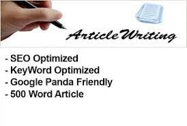 Write 2x500words of Content writing, Article writing and Blog post.