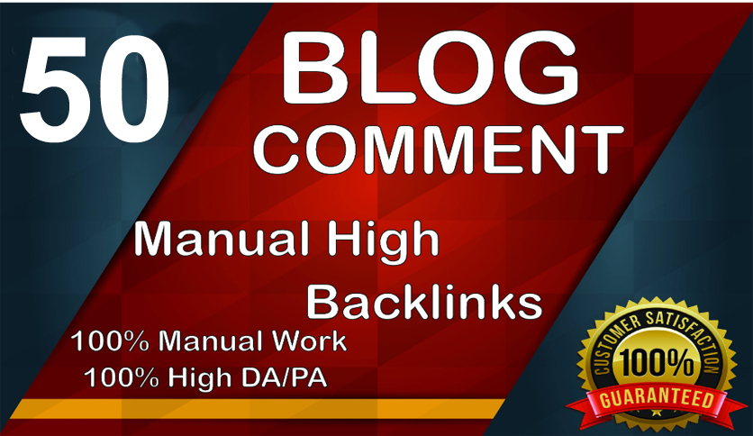 I will provide you 50 manually blog comment