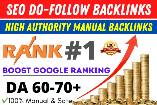 I will create high authority manual seo dofollow backlinks