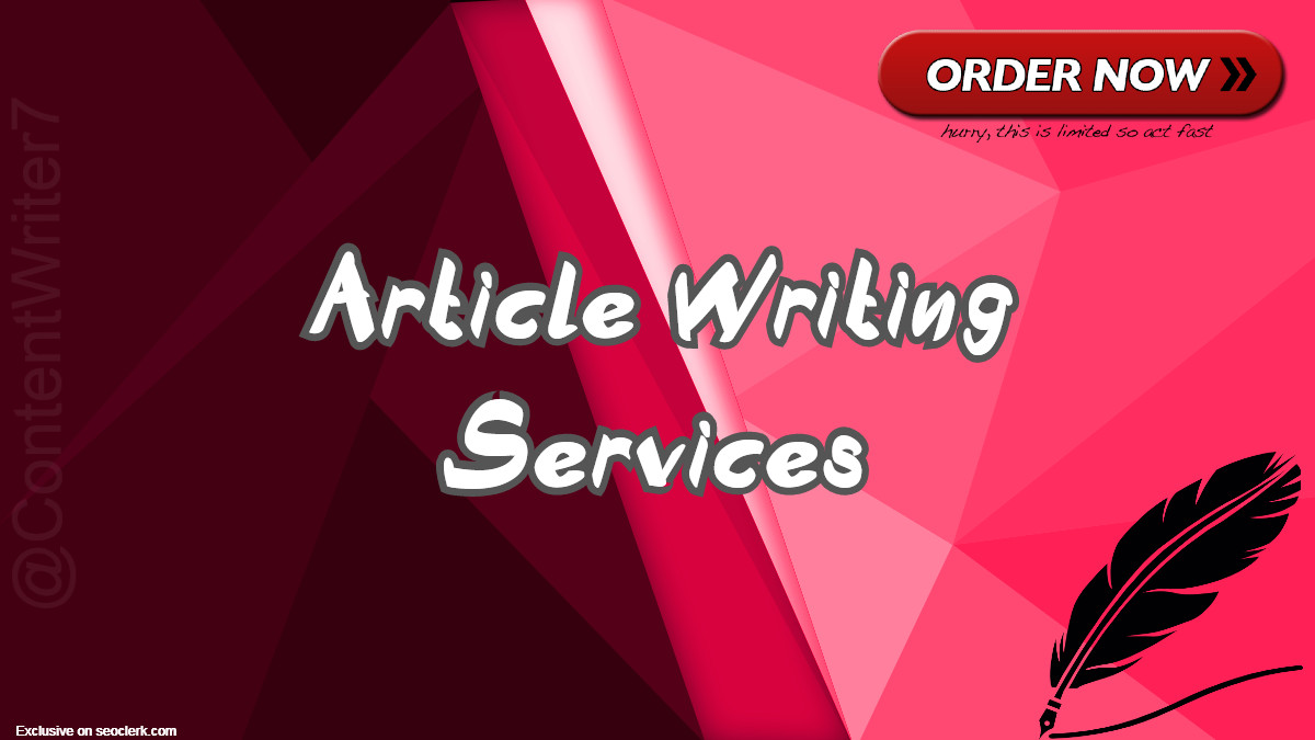 Article Writing Services for you