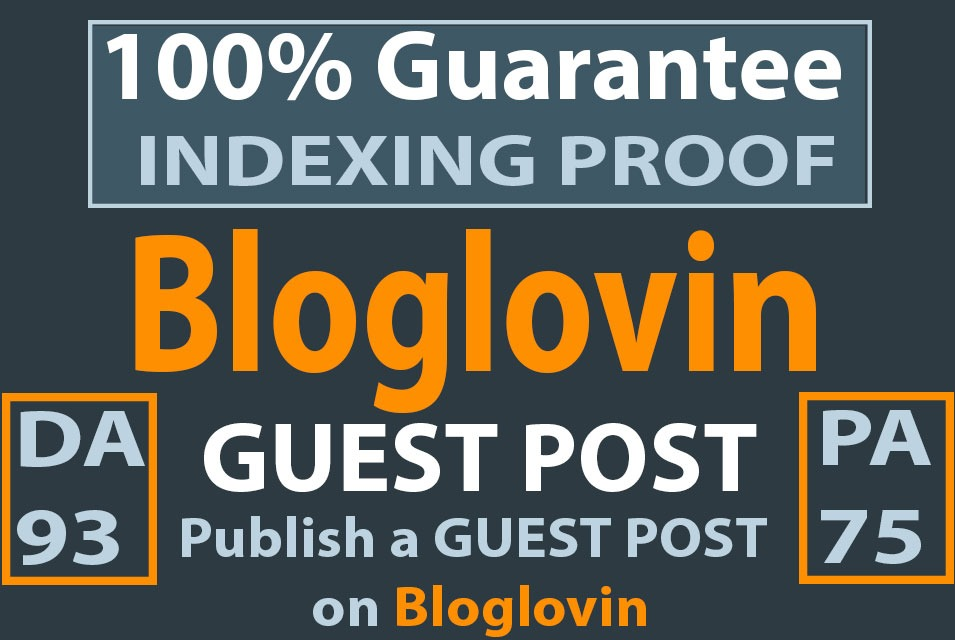 Guest post on bloglovin with DA 93 and PA75