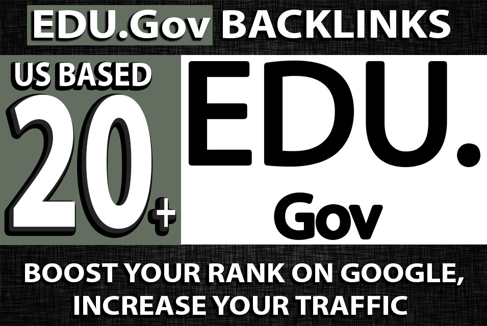 US Based 20 EDU. GOV High Authority Backlinks