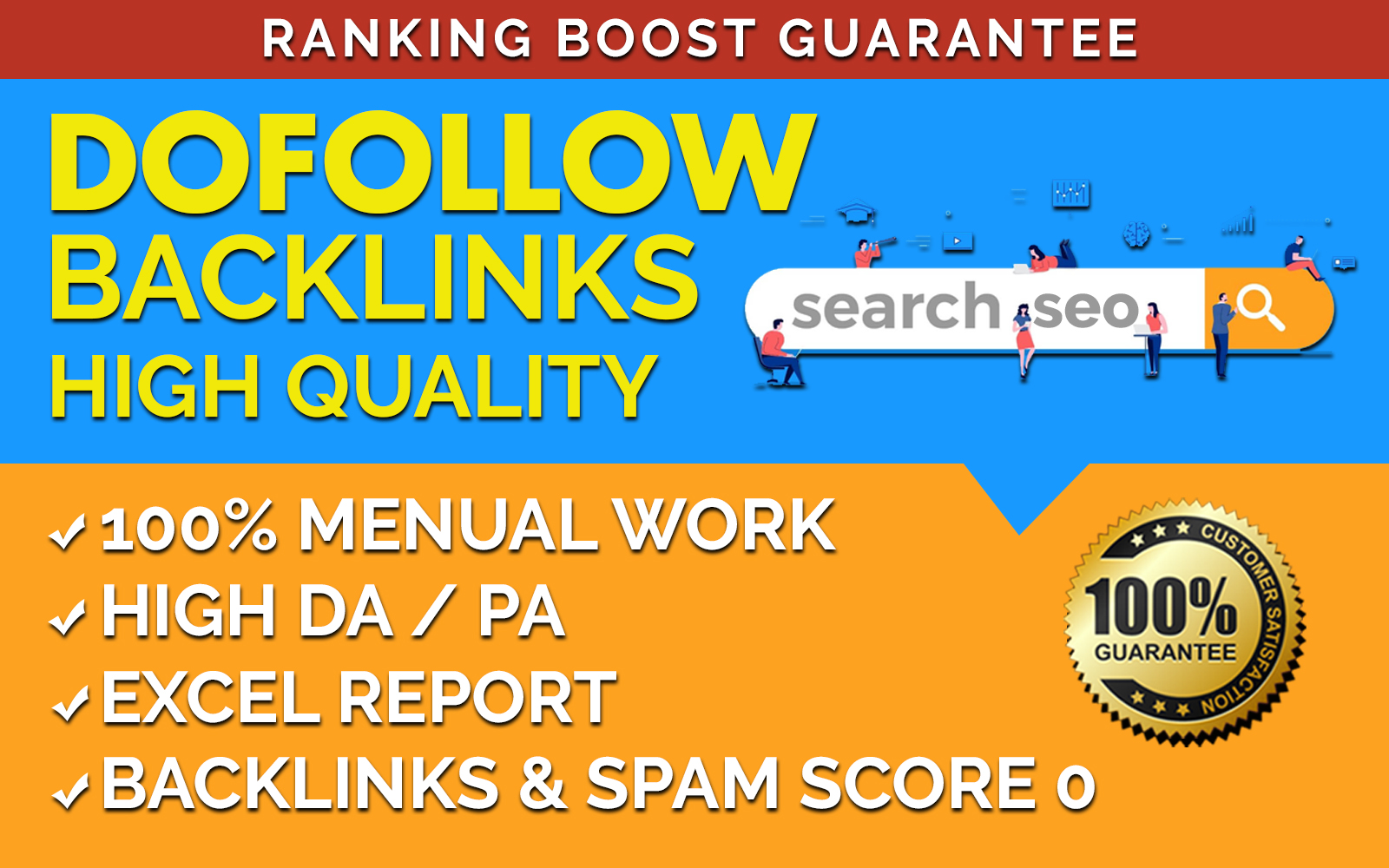 I Will Create 90 Dofollow Backlinks Offpage SEO
