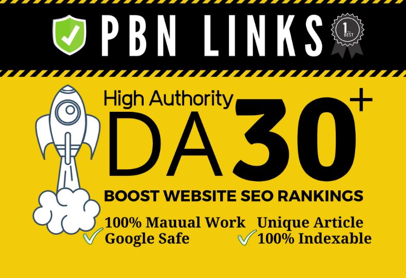 I will do 30 permanent powerful high da dofollow backlinks for seo