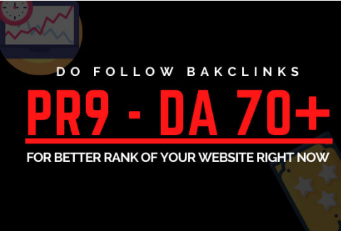 I will provide you pr9 backlinks with manual seo
