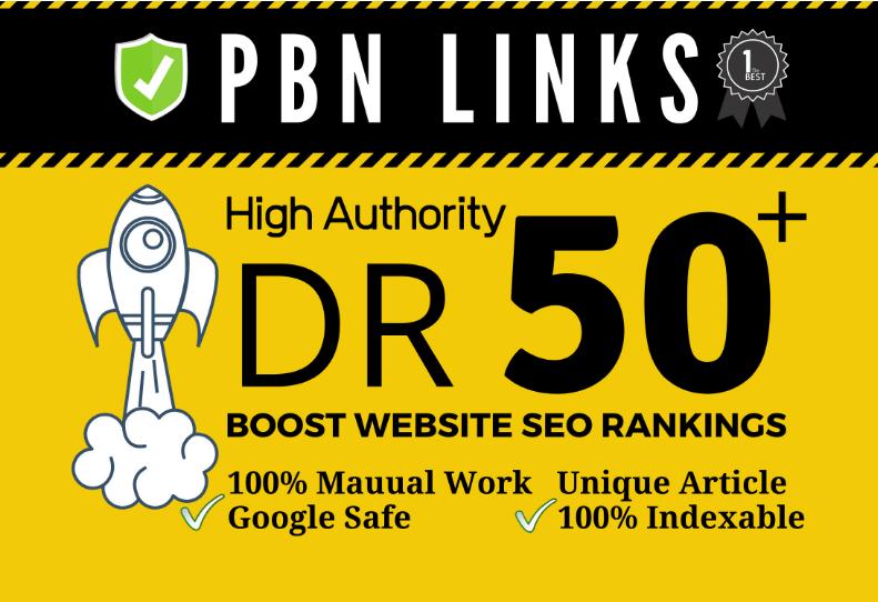 I will provide seo dofollow DR 50 high quality backlinks