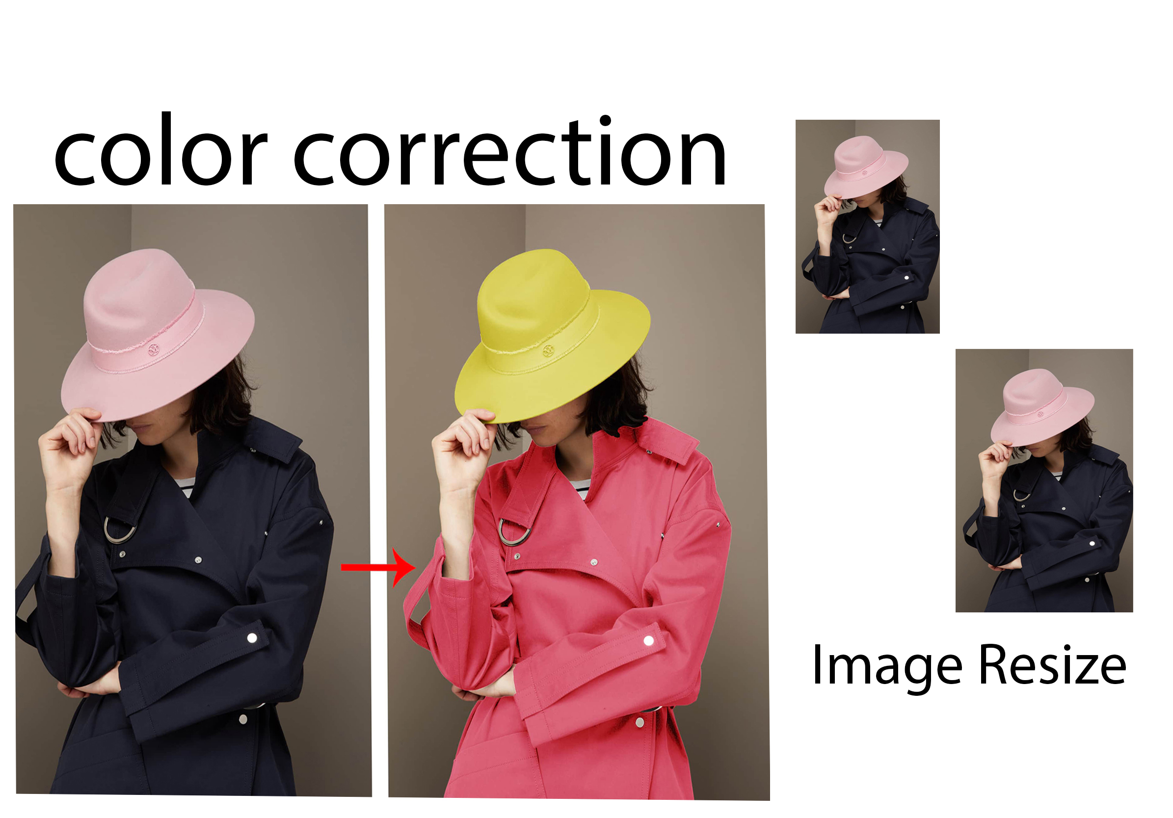 i can do 50 image resize land color correction