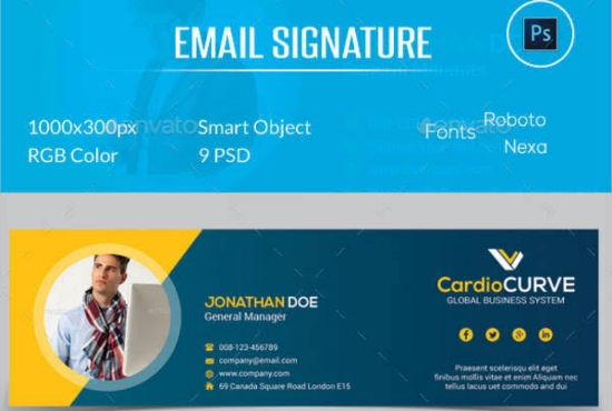 I will create html email signature for outlook, gmail