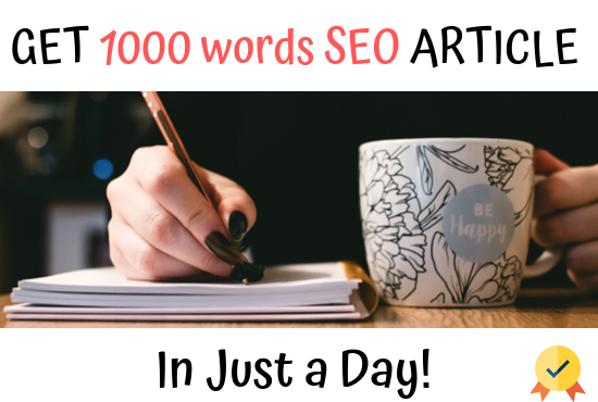 I will write SEO article with indepth keyword research