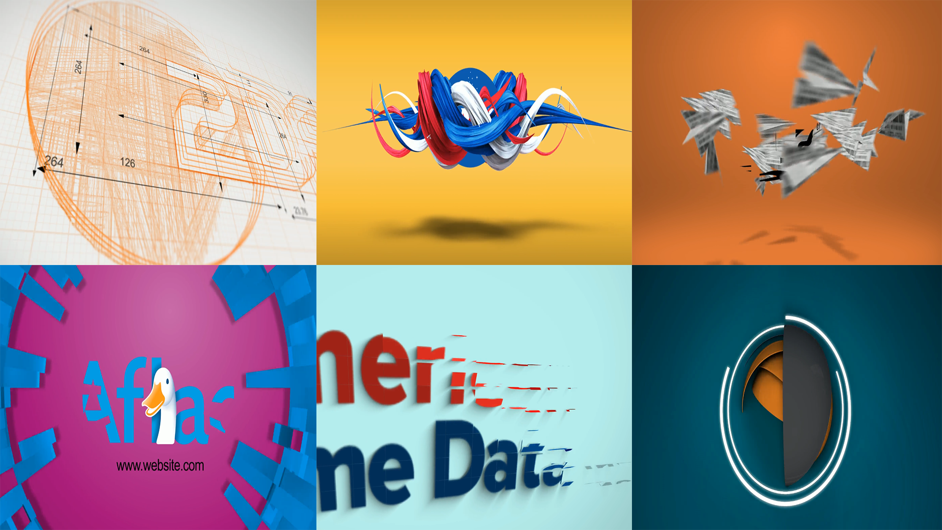 create a 6 popular intros with your logo