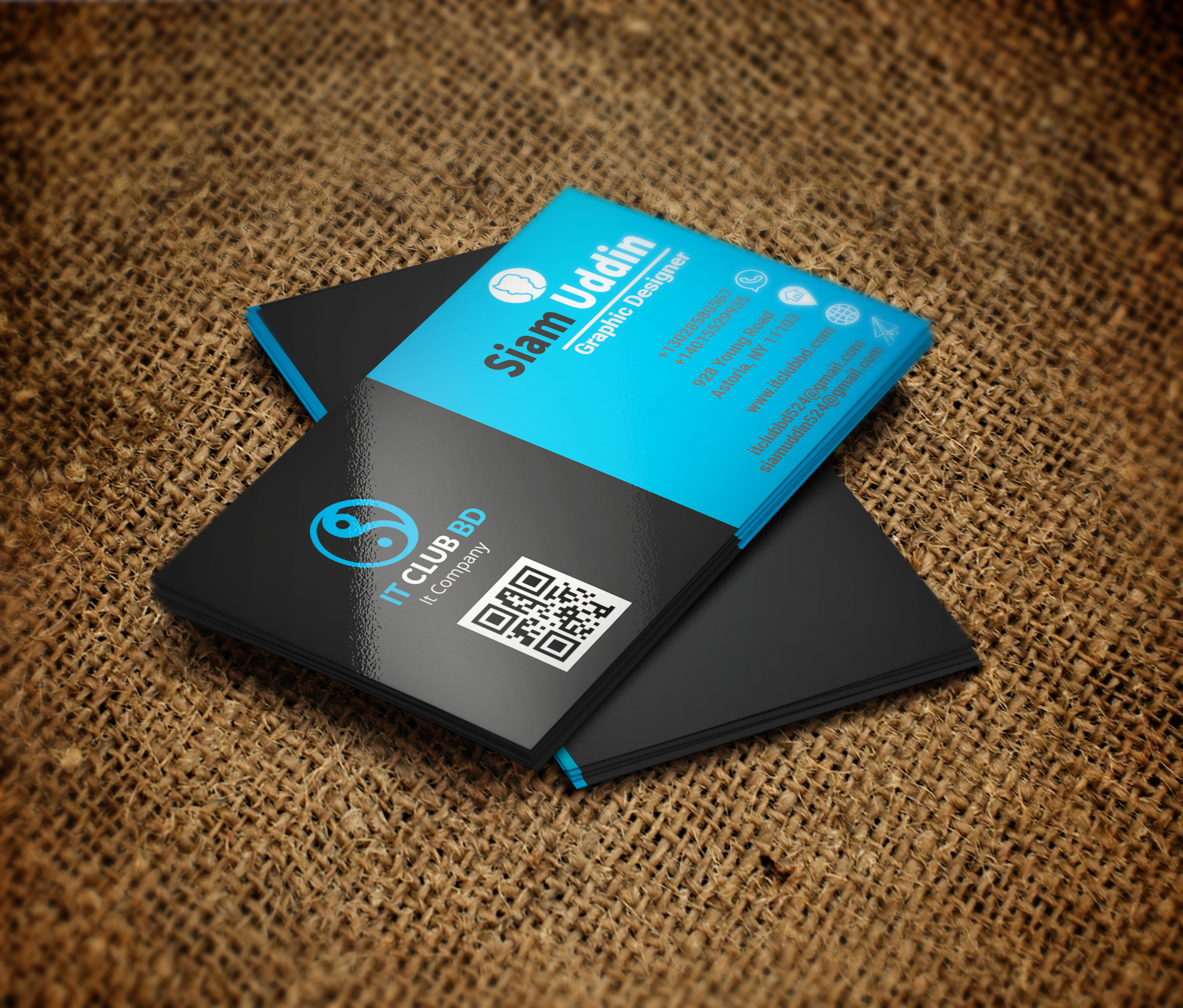 design professional business card in 5 hours