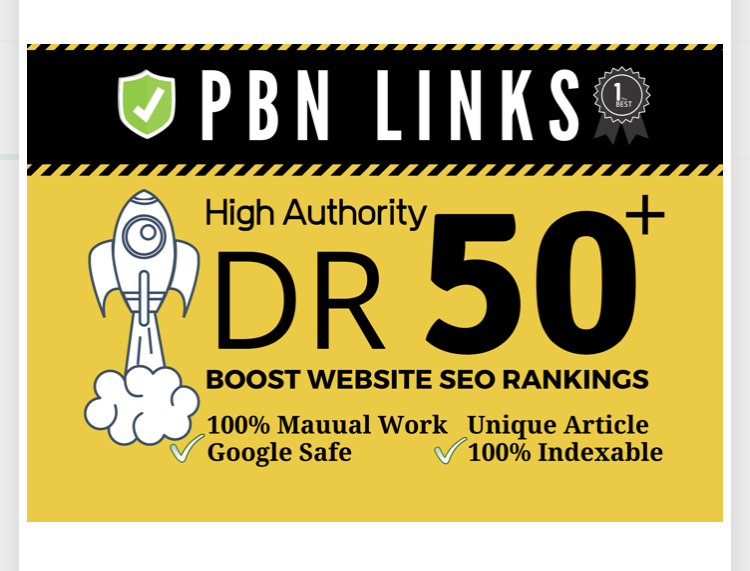 build 100 manual high dr50 plus homepage pbn dofollow backlink