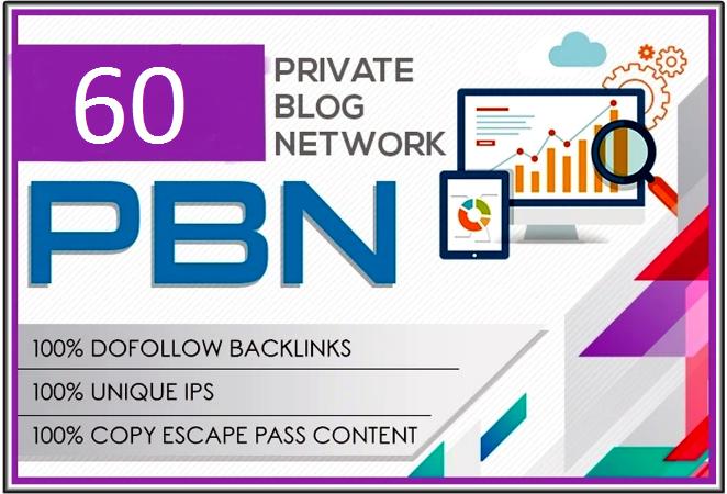 Get 60 high metrics pbn posts contextual backlinks