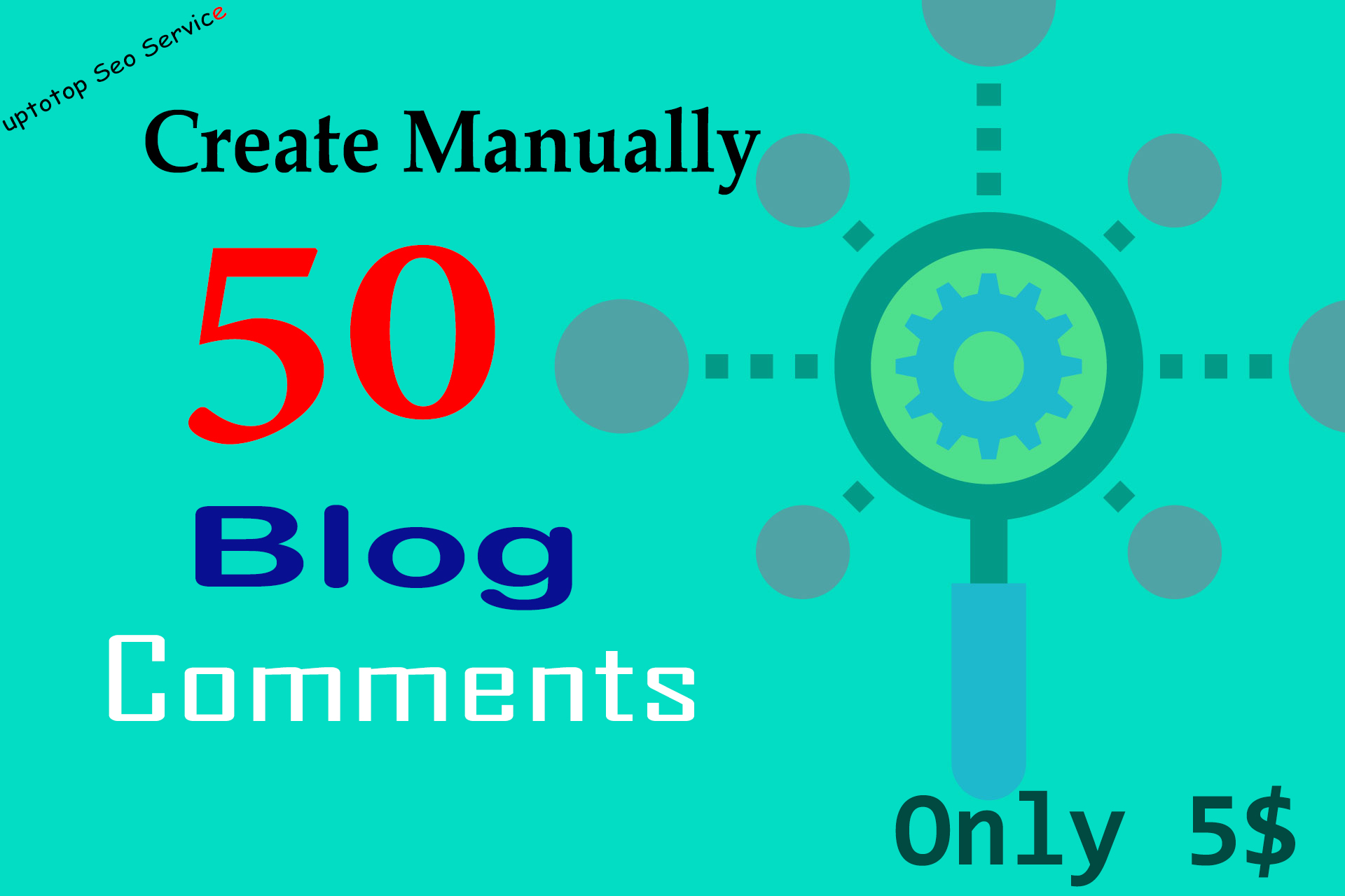 I will create manually 50 live blog comments with scrapebox