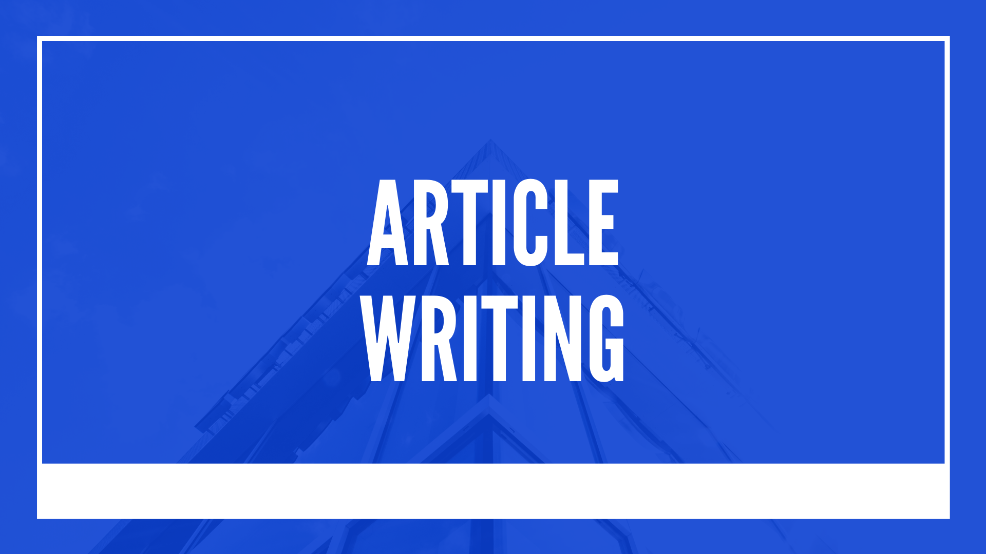 I will Write an effective article for your niche
