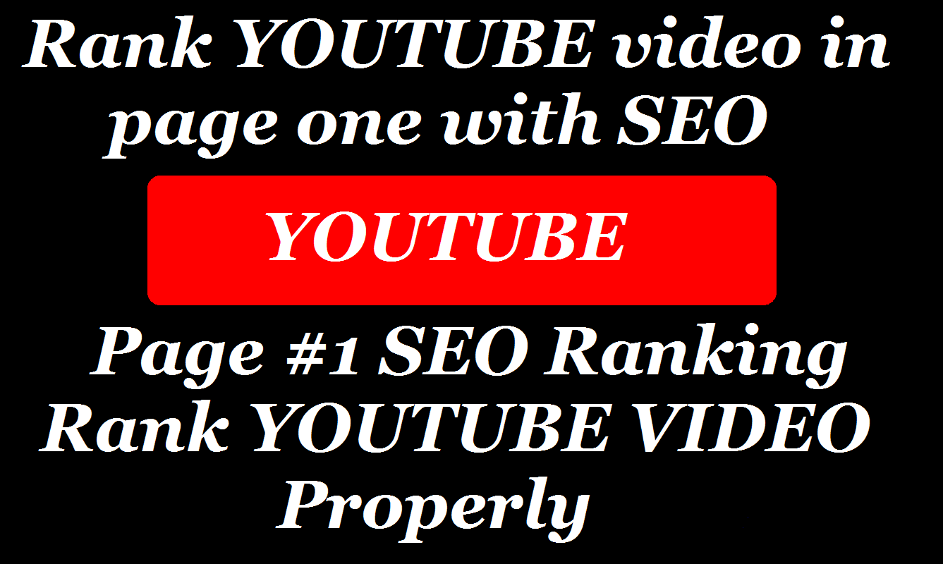 I will rank your youtube video on first page with seo