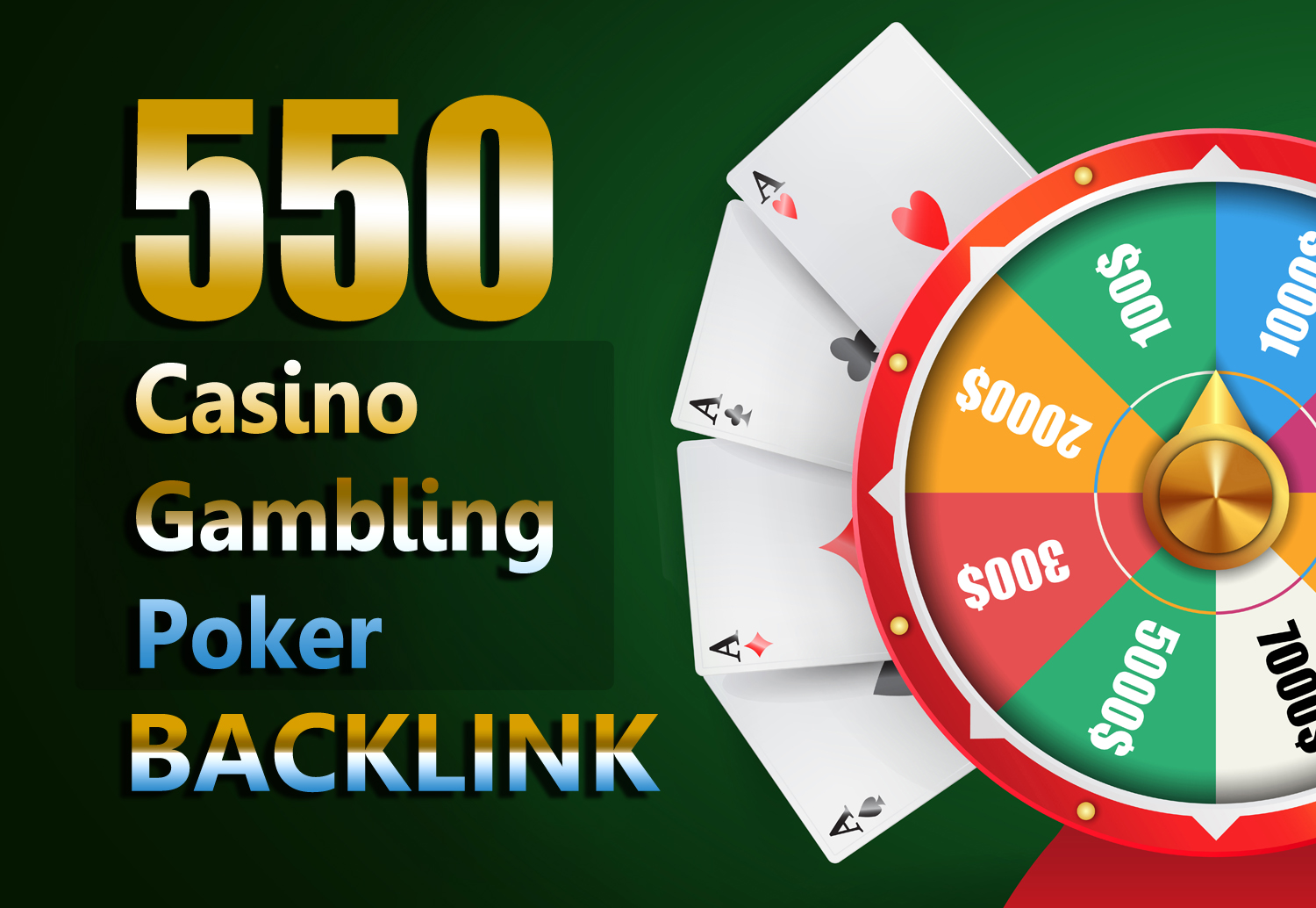 Permanent Website Ranking 550 Casino,  Poker,  Gambling Boost backlinks