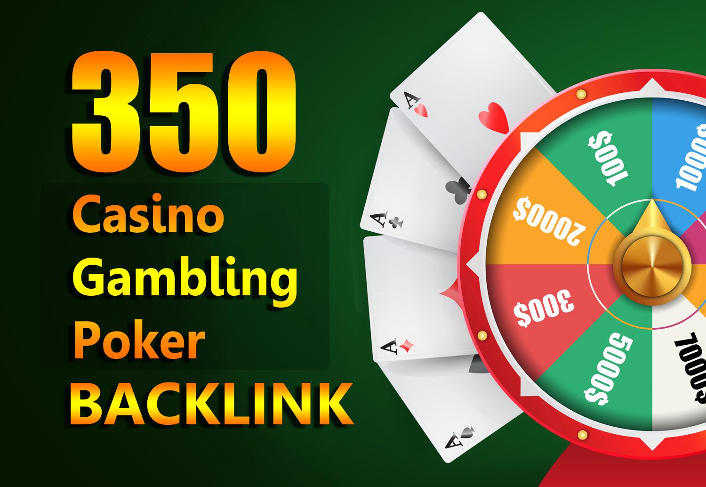 Permanent Website Ranking 350 Casino,  Poker,  Gambling Boost backlinks