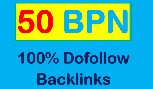 Create 50 Permanent Manual High DA 55+ PBN Backlinks