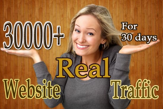Social targeted website real traffic for 30 Days