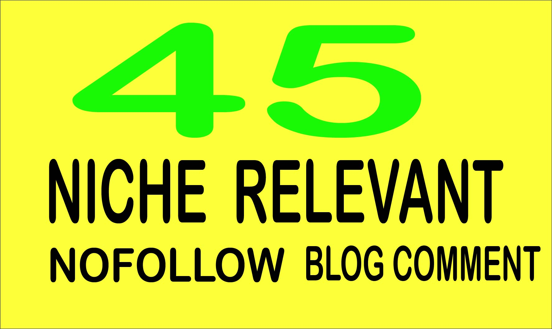 I will create 45 niche relevanted blog comments
