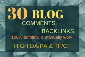 Do 30 High Pa Da Dofollow Blog Comments Unique Domain Backlinks Manually