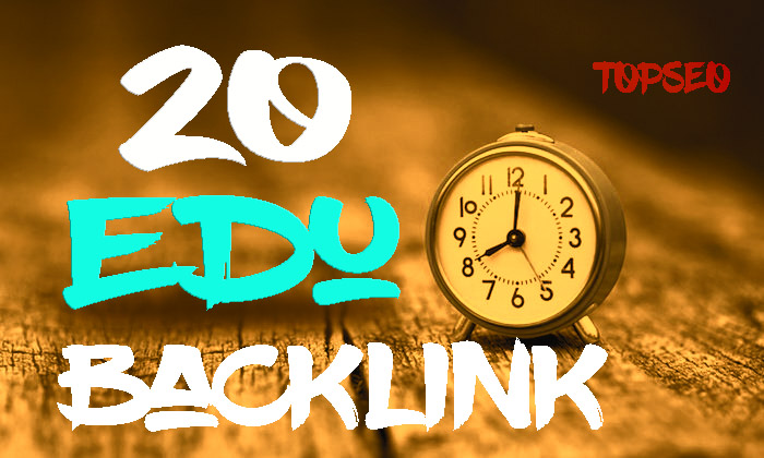 Unique 20 EDU Backlink From High Domain Authority Site